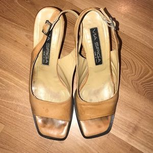 Via Spiga sling back pumps made in Italy size 7.5